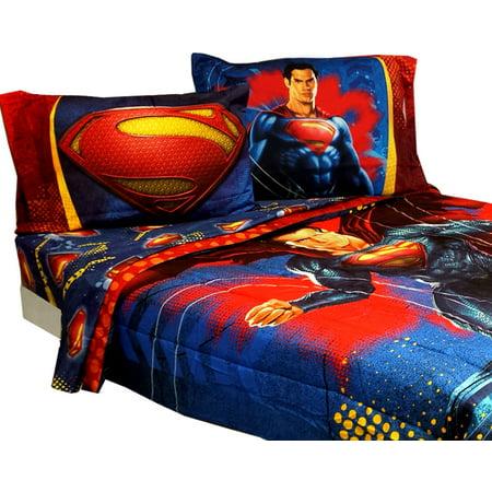 Superman Bedding Set Super Steel Comforter Sheets