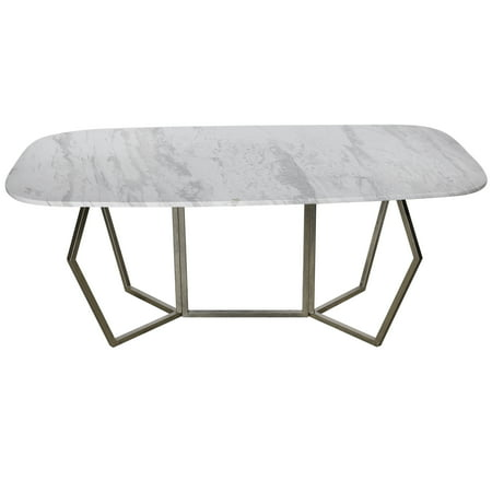 A&B Home Stepney Marble Long Dining Table ()