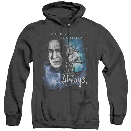 Trevco Sportswear HP8101-AHH-6 Harry Potter & Always Adult Heather Pull-Over Hoodie   Black - 3X - image 1 de 1