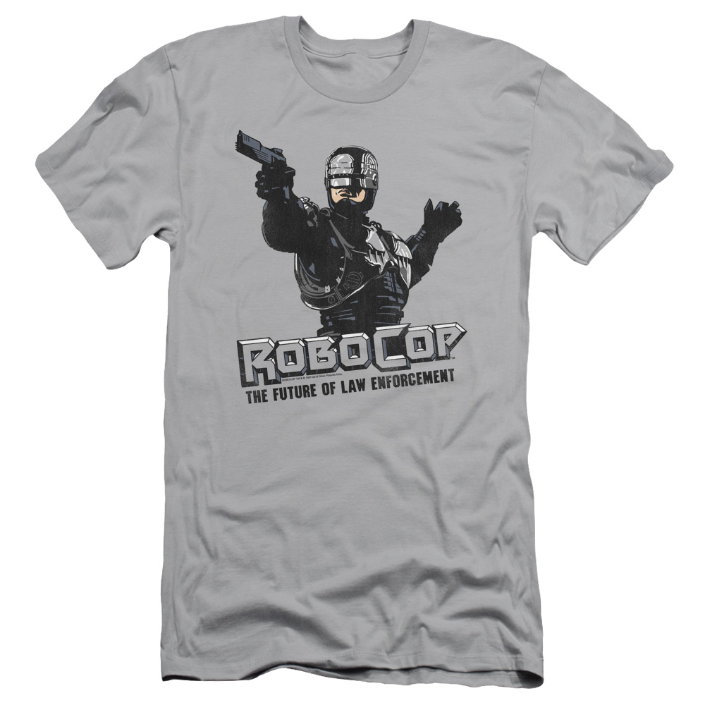 Robocop Future Of Law Mens Slim Fit Shirt