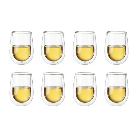 ZWILLING Sorrento 8-pc Double-Wall White Wine Stemless Glass