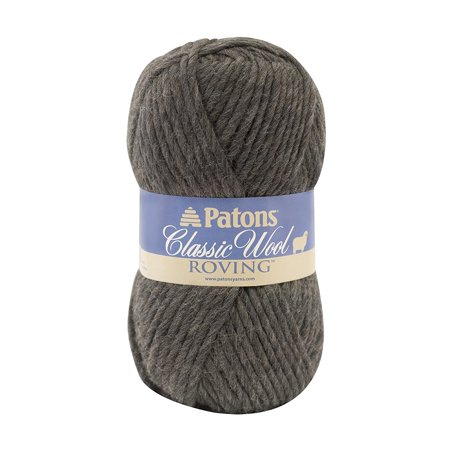 Classic Wool Roving Yarn, Dark Grey, Great for knit and crochet apparel and accessories By Patons