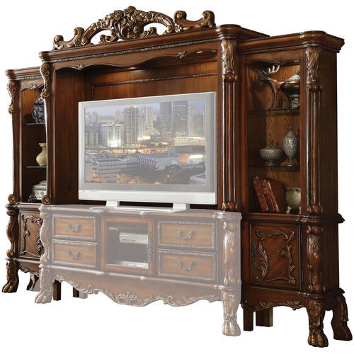 Image of Acme Dresden Entertainment Center for TV up to 70;, Cherry Oak