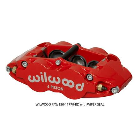Wilwood Rear Disc Brakes (Wilwood Caliper-Narrow Superlite 6R-LH - Red 1.62/1.12/1.12in Pistons 1.25in)