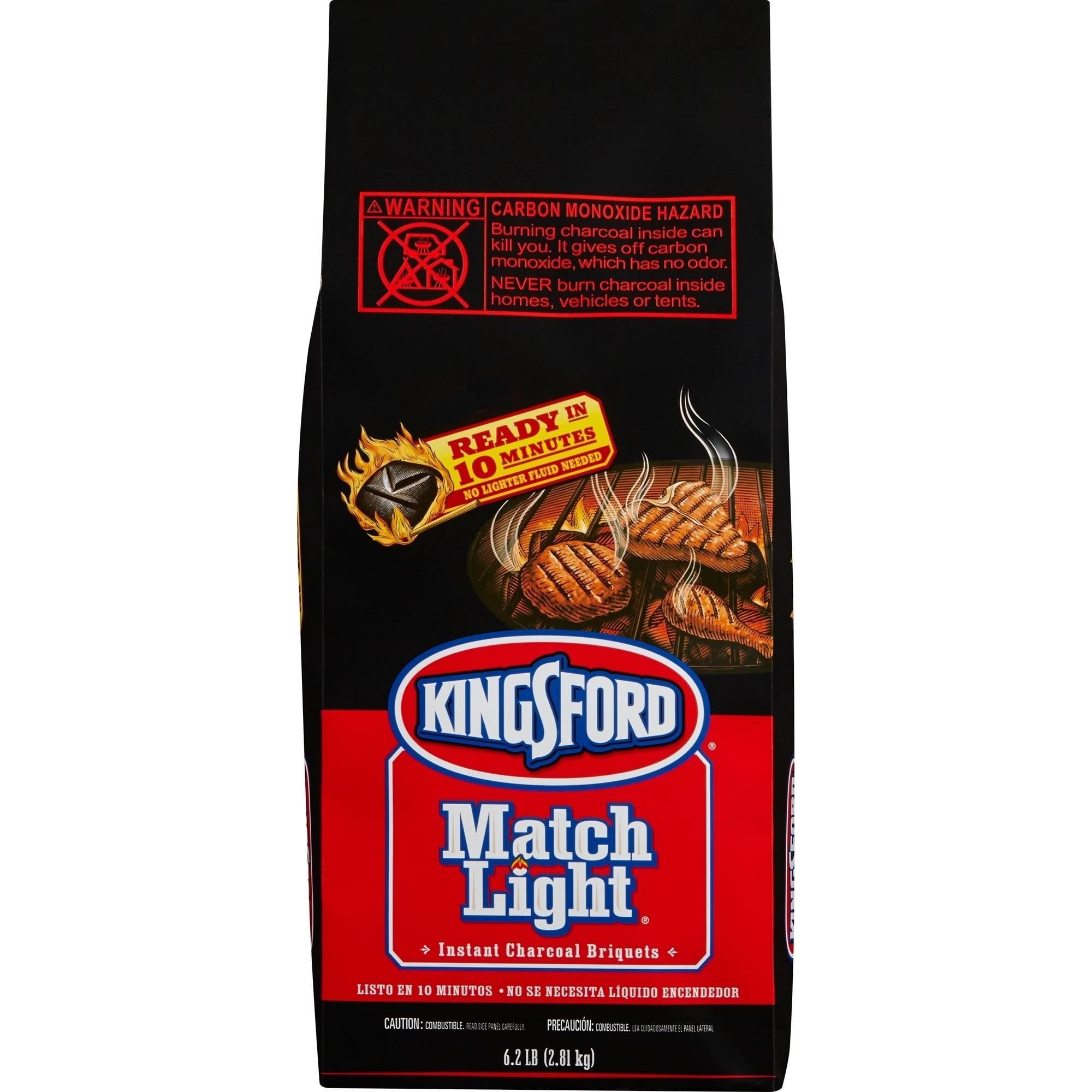 Kingsford Match Light Charcoal Briquets, 6.2 lb Bag