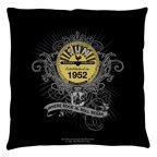 Sun Records Rockin Scrolls Throw Pillow White 14X14
