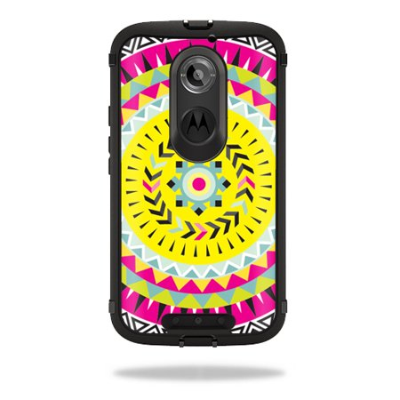 Mightyskins Protective Vinyl Skin Decal Cover for OtterBox Defender Moto X (2nd Gen 2014) Case cover wrap sticker skins Pink Aztec