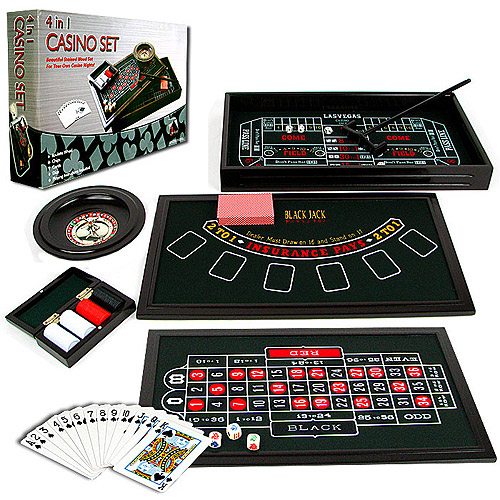 Trademark Poker 4 In 1 Casino Game Table