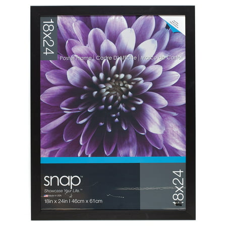Pinnacle 18 Inch By 24 Inch Square Poster Frame Black Walmartcom