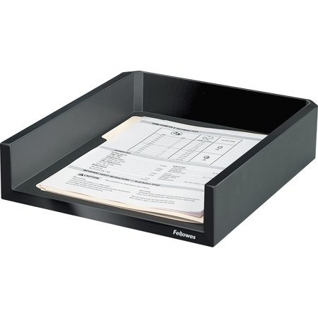 Fellowes, FEL8038501, Designer Suites Letter Tray, 1 Each, Black,Pearl