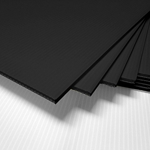 ONE- Corrugated Plastic 18x24 4mm Black