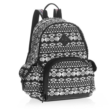 No Boundaries Women's Black and White Guitar Strap Backpack