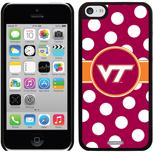 Virginia Tech Polka Dots Design on Apple iPhone 5c Thinshield Snap-On Case by Coveroo