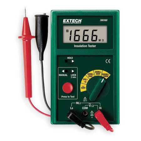 Battery Operated Megohmmeter,1000VDC EXTECH 380360