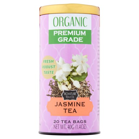 Signature Tea Co. Thé au jasmin bio, 20 comte, 1,4 oz