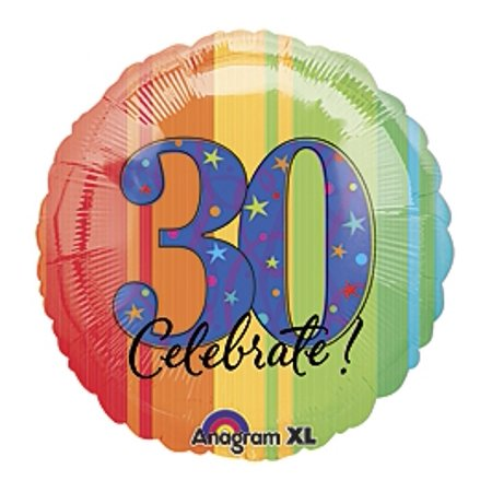 30th Birthday Party - A Year to Celebrate 30 18 inch Mylar Balloon - 30th Birthday Decor