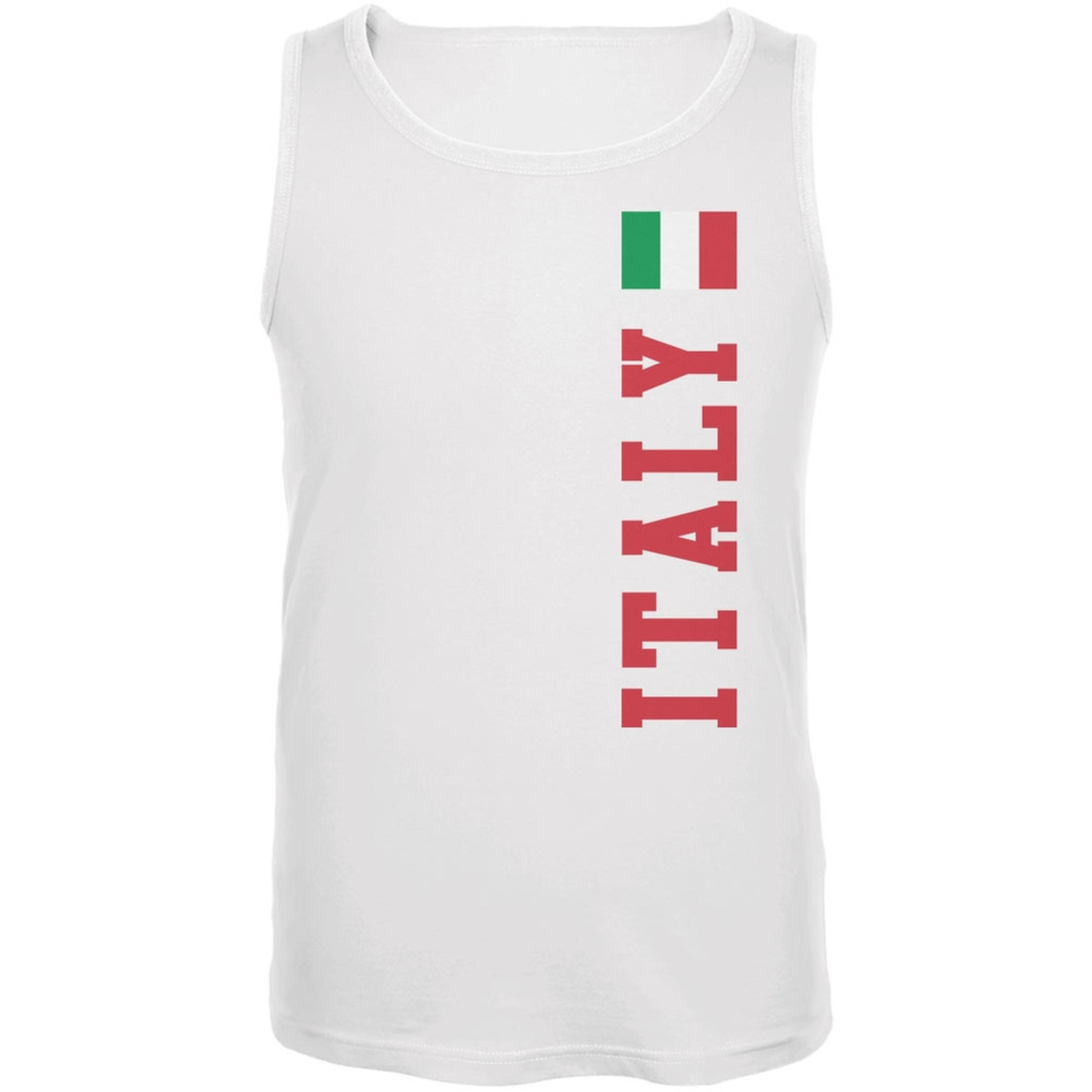 World Cup Italy White Adult Tank Top