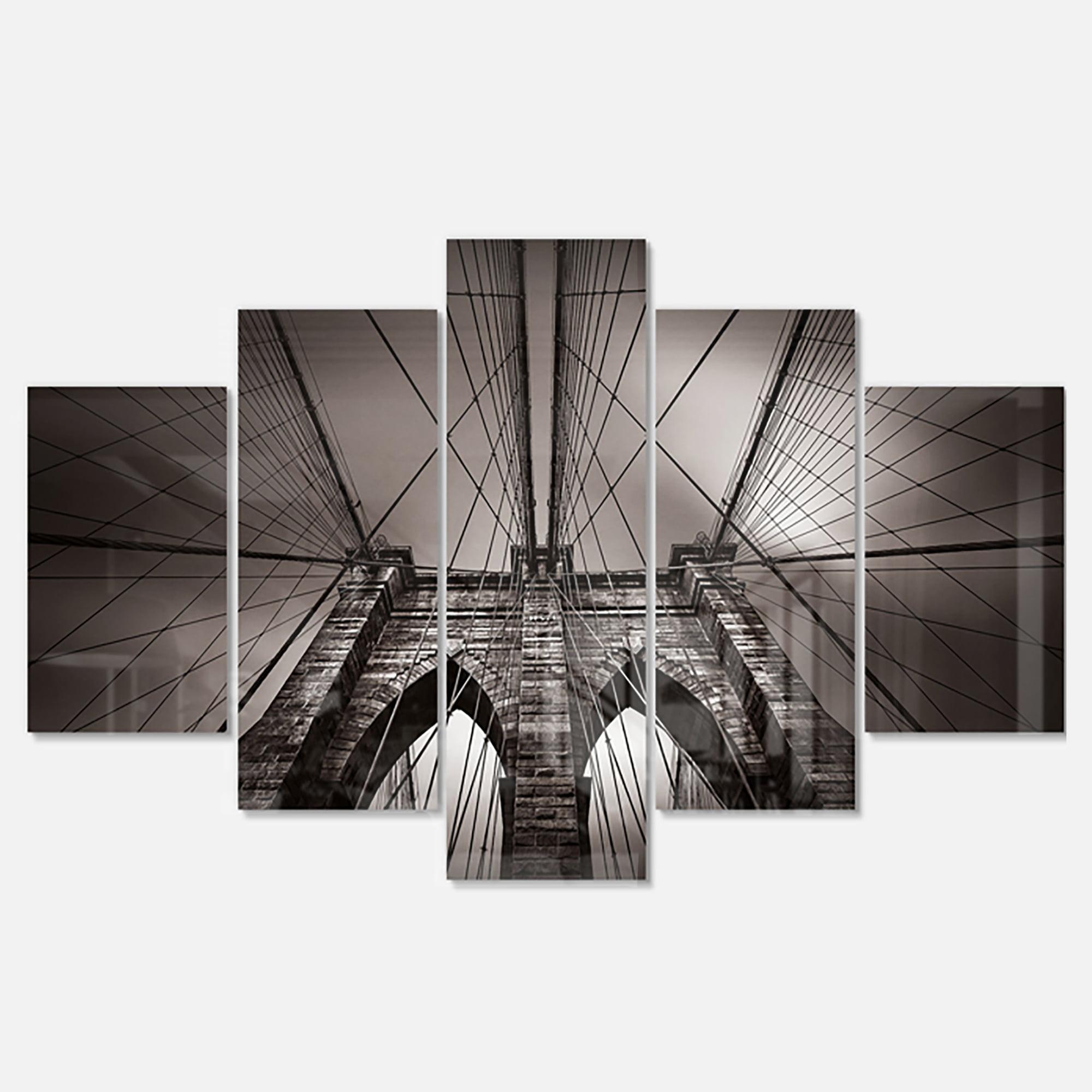 Designart 'Brooklyn Bridge in NYC USA ' Multipanel Extra ...