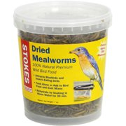 Stokes Select Dried Mealworms, 100 Percent Natural Premium Wild Bird Food, 7 oz Tub