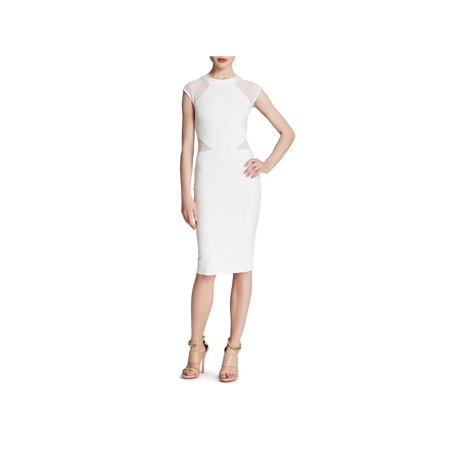 French Connection Womens Mesh Inset Sheath Cocktail Dress ()
