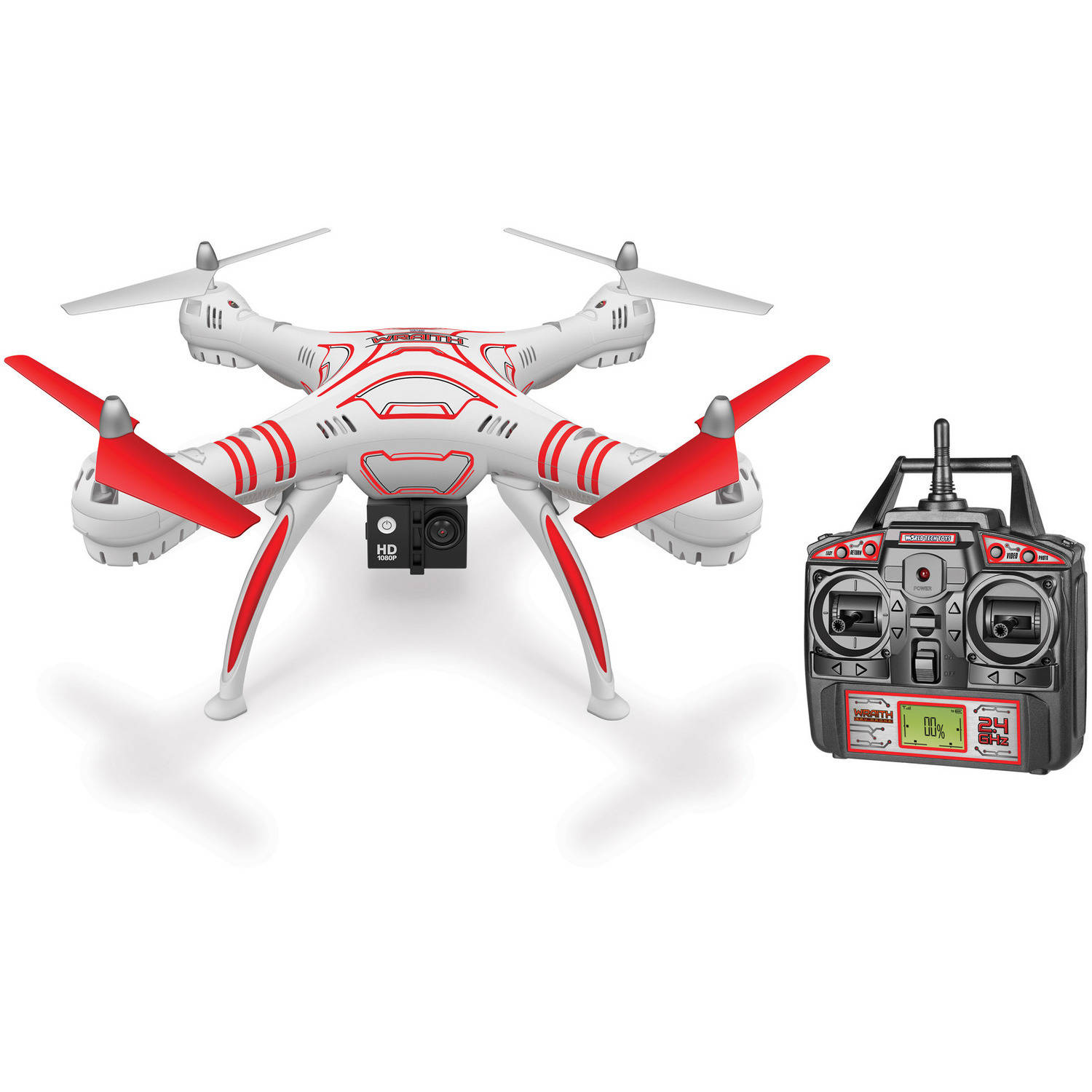 Wraith SPY Drone 4.5-Channel 1080p HD Video Camera 2.4GHz R C Quadcopter by WORLD TECH ELITE