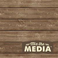 "Jillibean Soup 6"" x 6"" Mix The Media Dark Wooden Plank, 1 Each"