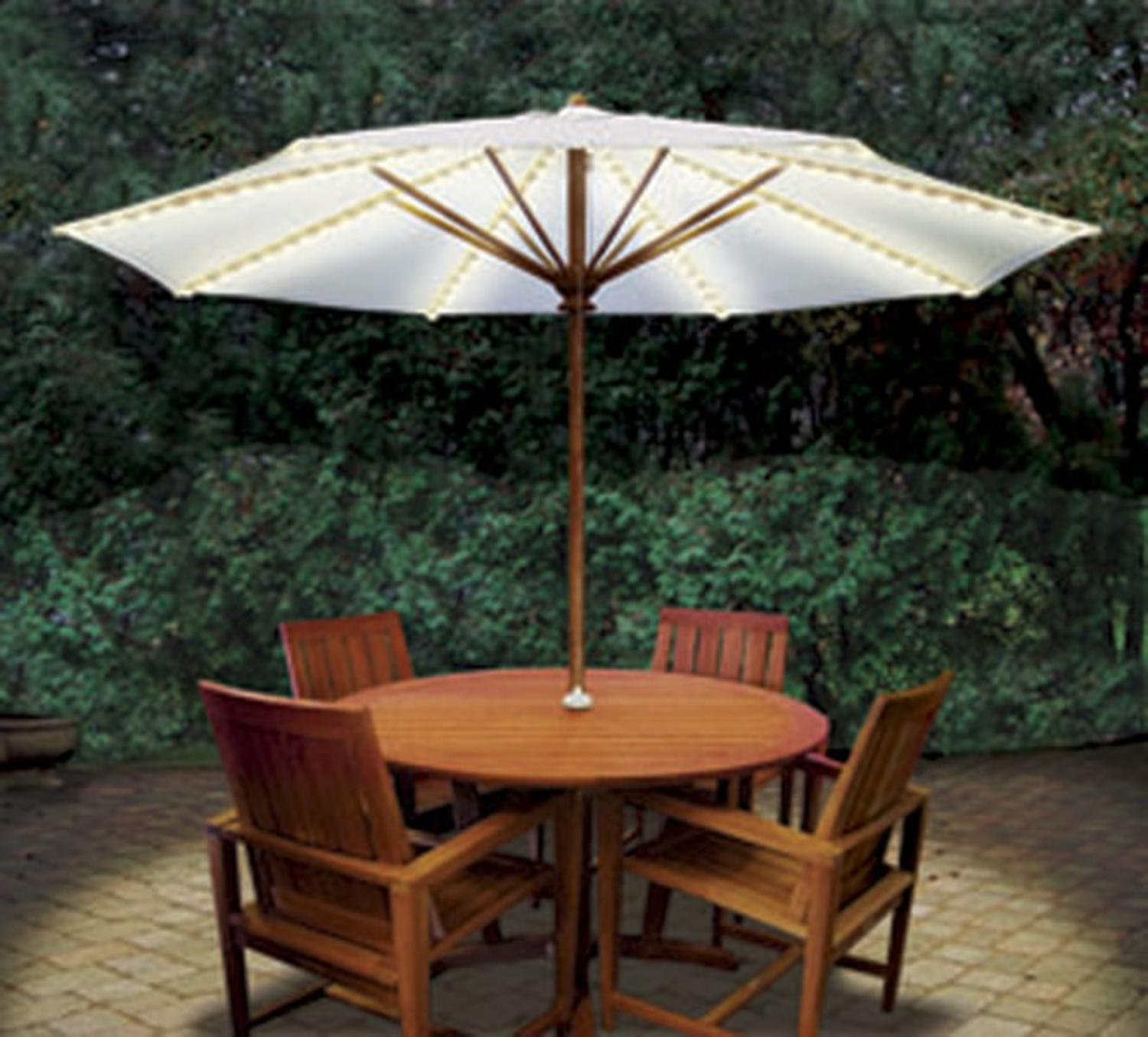 Brella Lights Outdoor Patio Lighting System for 8-Rib Umbrellas - White