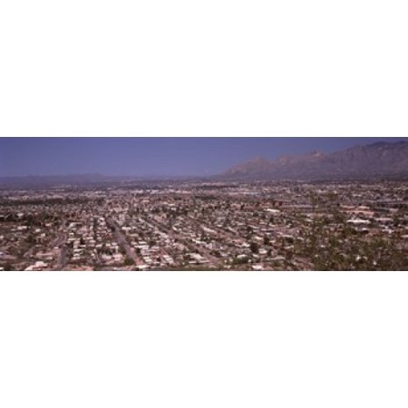 Party City Tucson Arizona (Aerial view of a city Tucson Pima County Arizona USA Canvas Art - Panoramic Images (18 x)