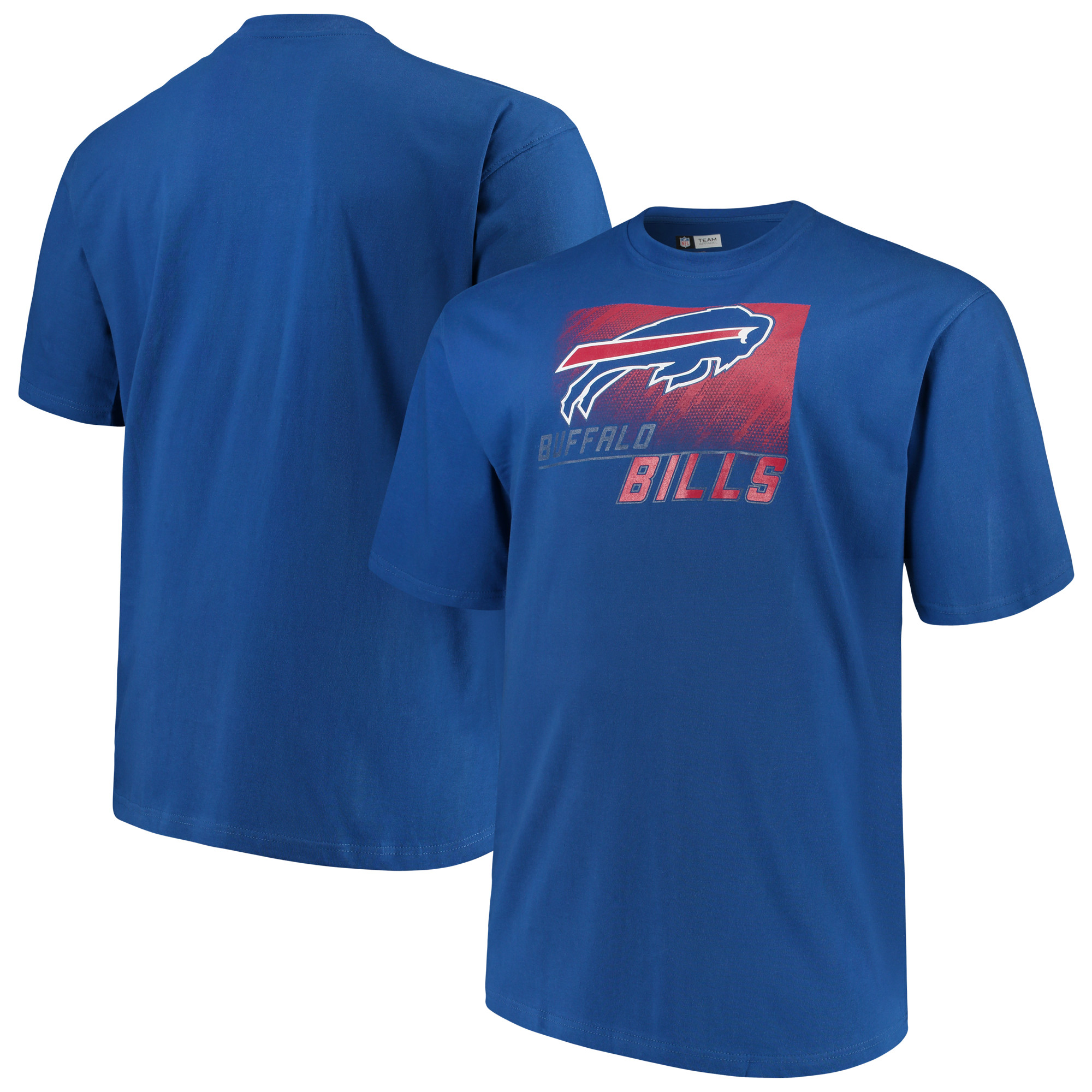 Men's Majestic Royal Buffalo Bills Big & Tall Reflective T-Shirt