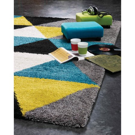 Alpine Rug Co Melbourne Colorful Triangles Soft Touch Area