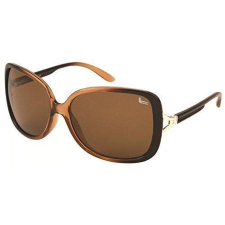 Women's Fashion Polarized Sunglasses, Oversized and Vintage Style by Coleman - Brown (Coleman Sunglasses)