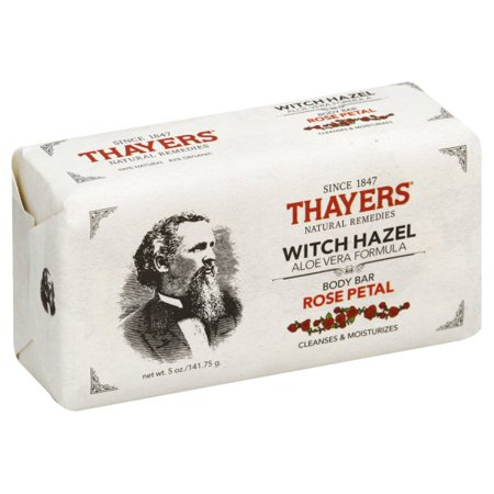Henry Thayer Company, Thayers Witch Hazel Rose Petal Body Bar, 5 oz
