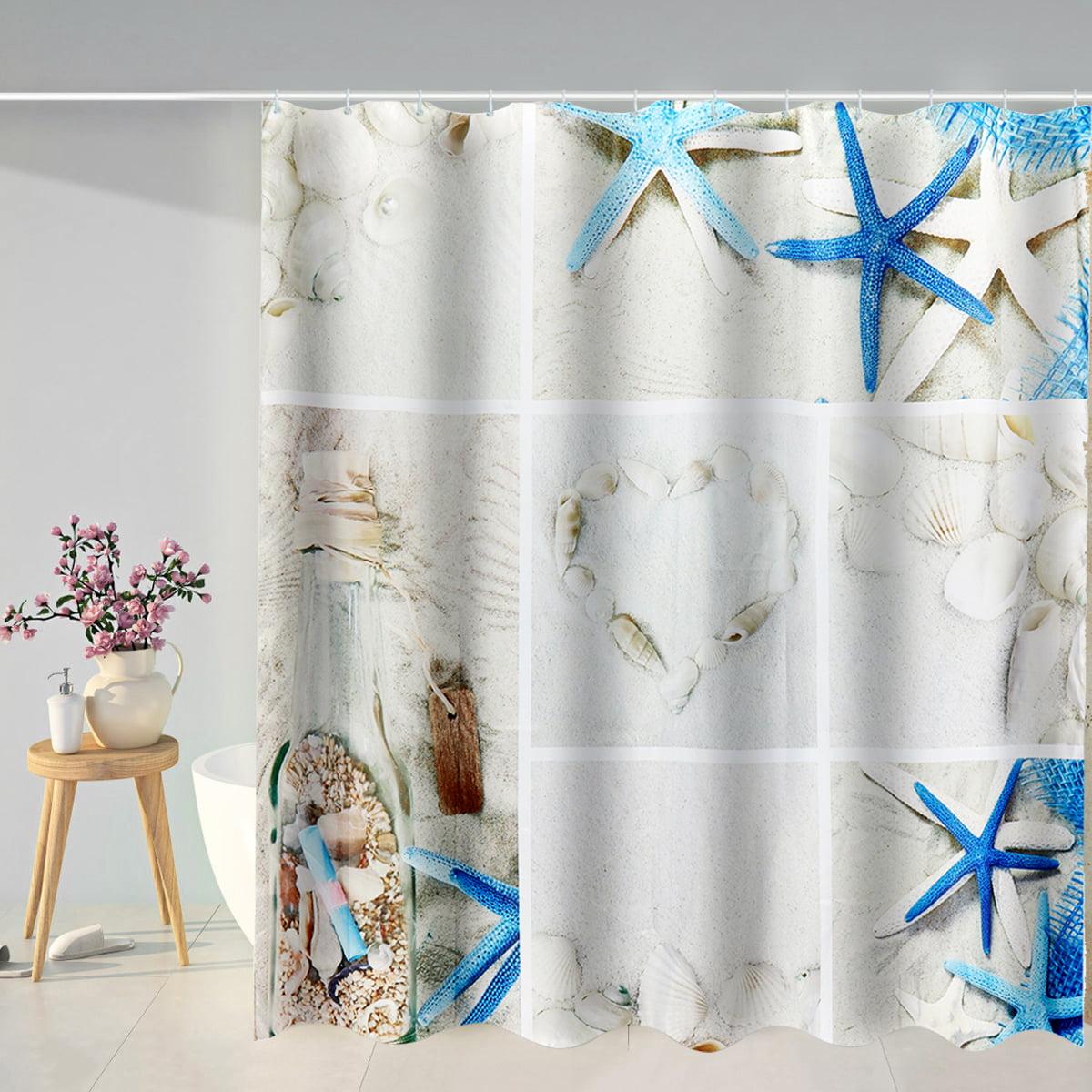 """Swing on Tree Seaside Ocean Shower Curtain Bathroom Waterproof Polyester 71/"""""""
