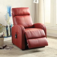 Kingfisher Lane Power Lift Recliner In Red
