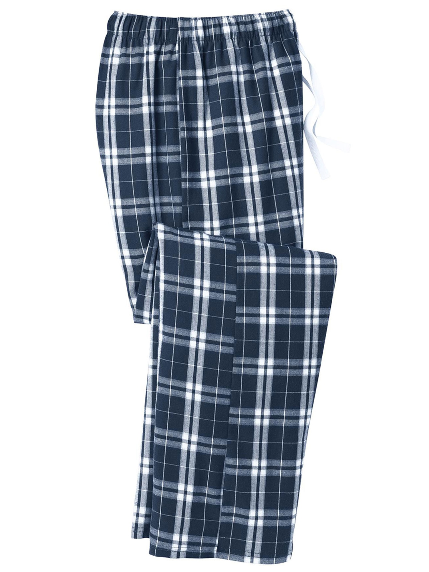 District Men's Flannel Plaid Elastic Waistband Pant