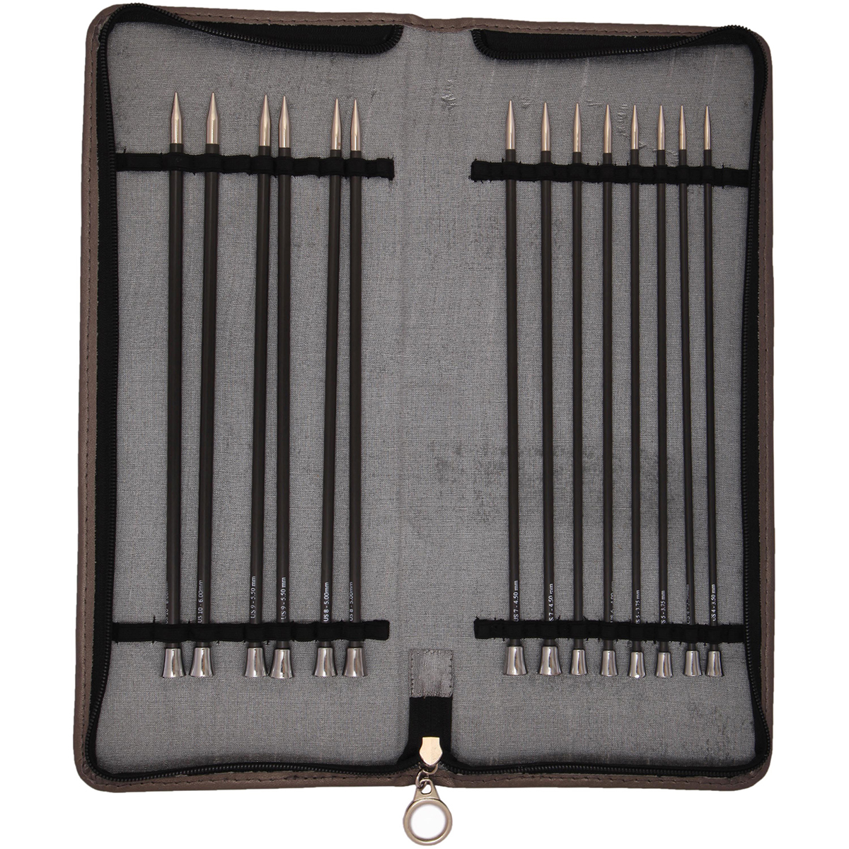"Knitter's Pride-Karbonz Straight Needle Set 10""-"