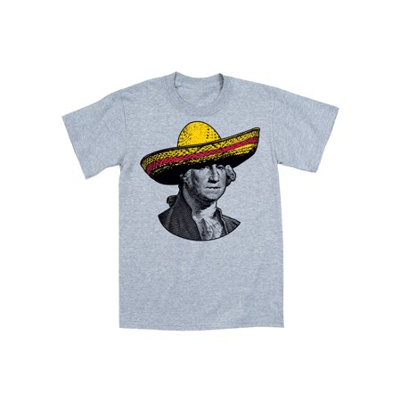 Sombrero Hat George W. Cinco De Mayo Pinata Party Political Humor Mens T-Shirt - Cinco De Mayo Clothing