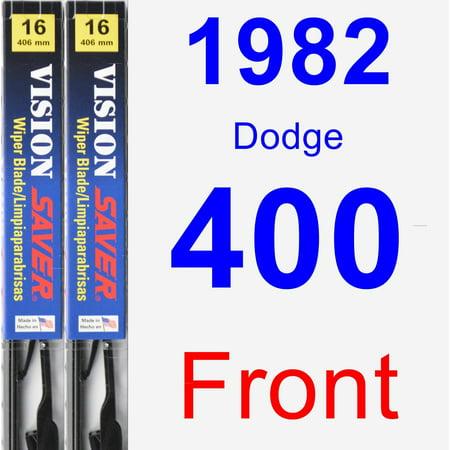 1982 Dodge 400 Wiper Blade Set/Kit (Front) (2 Blades) - Vision Saver