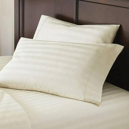 Better Homes & Gardens 400 Thread Count Egyptian Cotton Damask Stripe Pillowcase Collection, 2 Piece