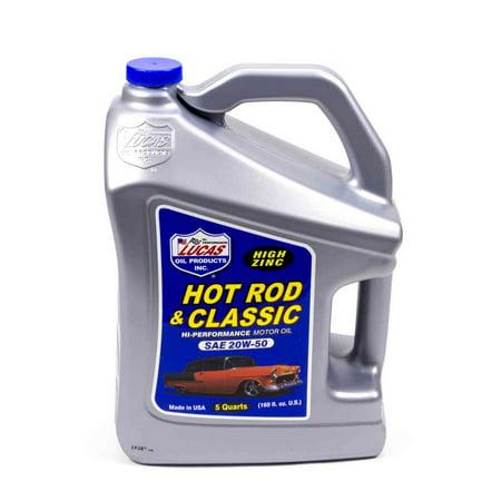 Lucas Oil Hot Rod and Classic Car 20W50 Motor Oil 5 qt P/N