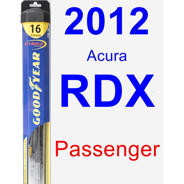2012 Acura RDX Passenger Wiper Blade