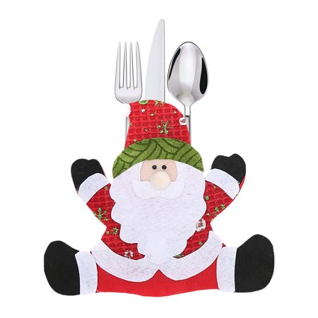 Mosunx Decoration Creative Home Party Fork Set Hat Tree Storage Tool Christmas Bag