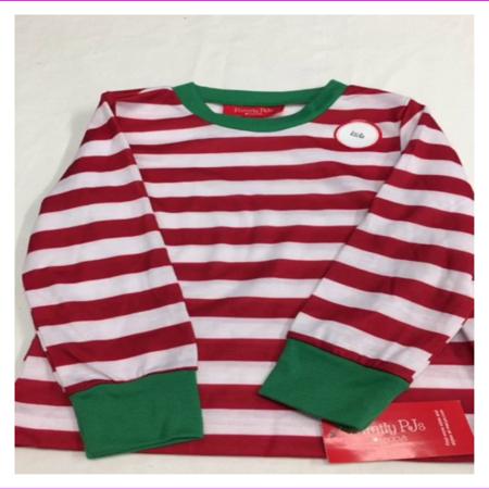 Family PJs Kids Holiday Stripe Pajama Set Red