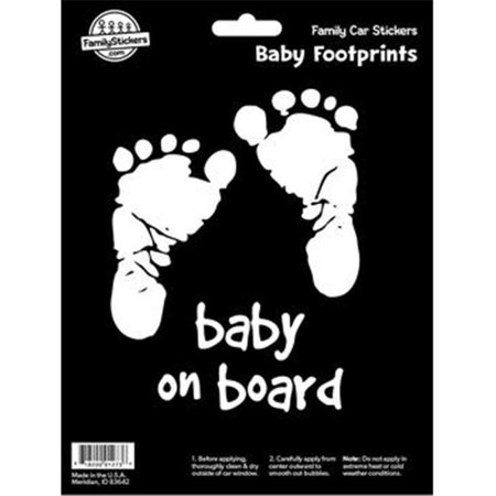 Decalcomania 10042 Footprint - Baby on Board Decal Stickers (Baby Footprint)