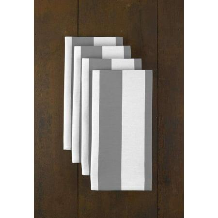 Gray & White Cabana Stripe Napkins 18