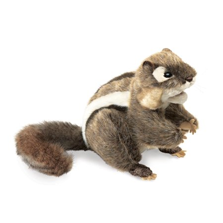 Hand Puppet - Folkmanis - Chipmunk Eastern New Animals Soft Doll Plush 2888](Animal Puppets)