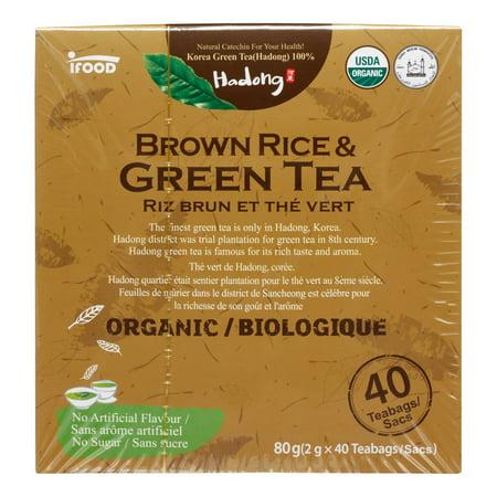 Hadong riz brun biologique et le thé vert, 20 Ct