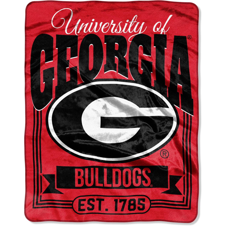 """NCAA Georgia Bulldogs """"Traction"""" 55"""" x 70"""" Silk Touch Throw, 1 Each"""