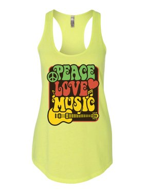 "c95d9221714a0 Product Image Women s Cute Hippie ""Peace Love Music"