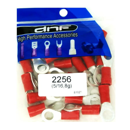 DNF 25 Pack Copper 8 Gauge Red Ring Terminals Electrical Wire Connectors